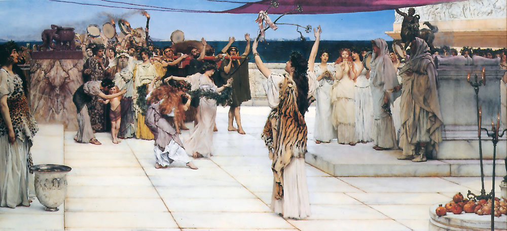alma-tadema dedication bacchus