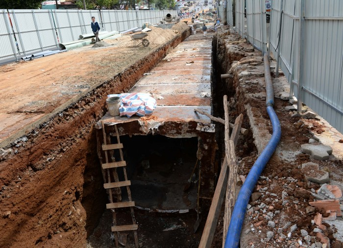 TP. Pleiku: Thi công hệ thống thoát nước đường Hùng Vương - Sẽ hoàn thành sớm hơn nhiều so với kế hoạch