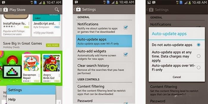 Mematikan fitur Automatic Update Google Play di Smartphone Android | mematikan fitur update otomaris www.imron22.com