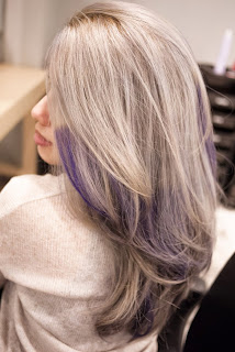 grey and purple hair color