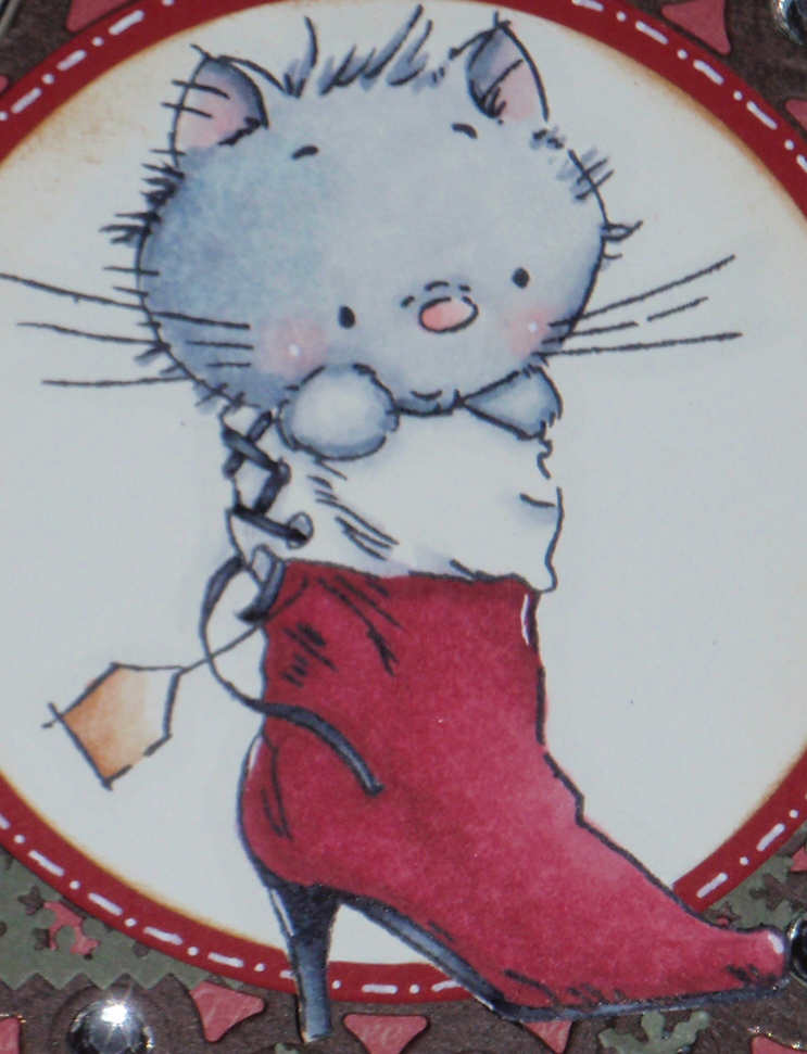 bricolage de brigitte chaton de no l christmas kitty. Black Bedroom Furniture Sets. Home Design Ideas