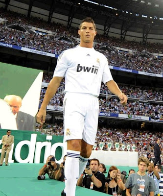 Cristiano Ronaldo: First day as Real Madrid player at Bernabeu  Stadium