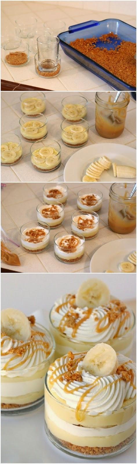 How To Make Banana Caramel Cream Dessert