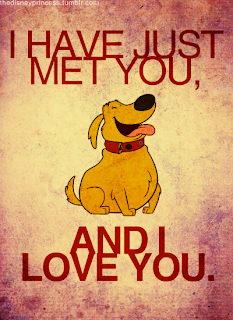 UP dog, dog from UP, dog cartoon, dog drawing, i just met you and i love you, i just met you and i love you dog