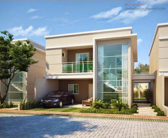 Fachadas modernas de d plex fachadas de casas y casas for Viviendas pequenas