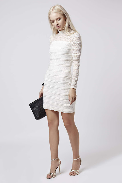 white layered dress, white ruffle dress,