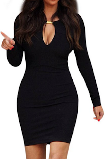 sexy sassy womens v neck dress