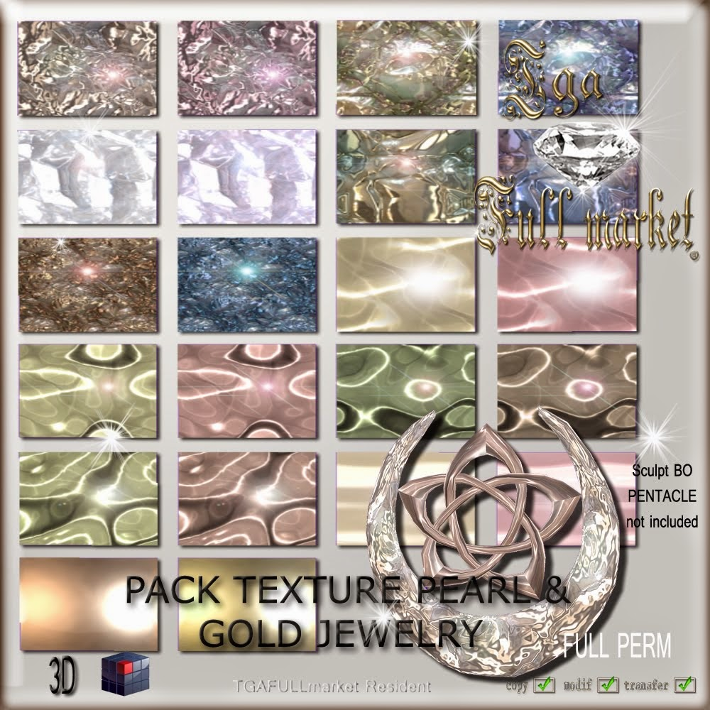 PACK TEXTURE PEARL & GOLD JEWELRY