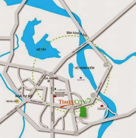 Bản đồ vị trí dự án chung cư Times City