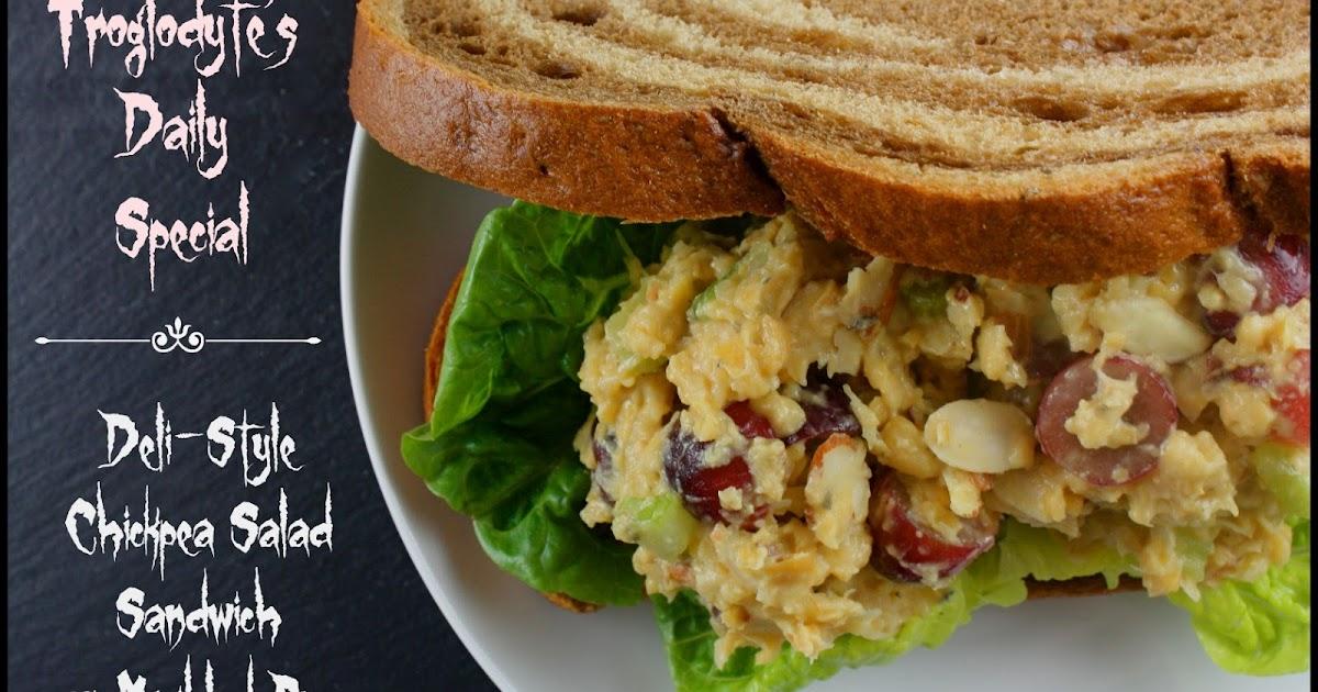 Kahakai Kitchen: Deli-Style Chickpea Salad Sandwich on Marbled Rye ...