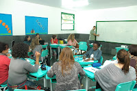 Professores tutores da rede pública fluminense reuniram-se, nesta terça-feira, 25, na Escola Municipal João Adolpho Josetti, na Posse, para participar da edição 2012 do Pró-Letramento – Mobilização pela Qualidade de Ensino