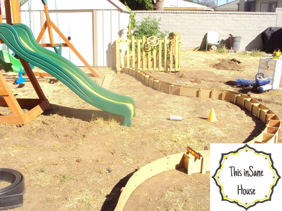 This InSane House DIY Concrete Edger Or Retaining Curb - Diy concrete garden edging
