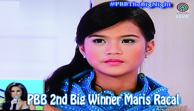PBB 2nd Big Winner Maris Racal