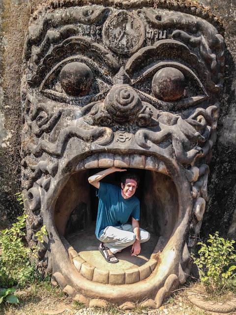Pumpkin-statue-Buddha-park-Vientiane