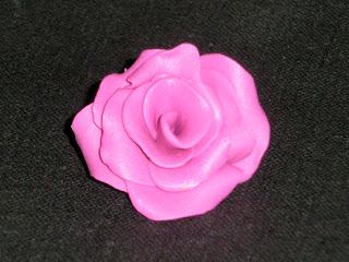 Polymer Clay  - Fimo - rose