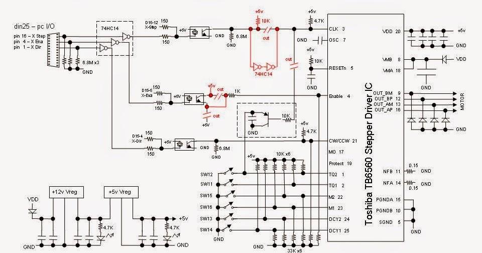 Электрическая схема подключения чпу