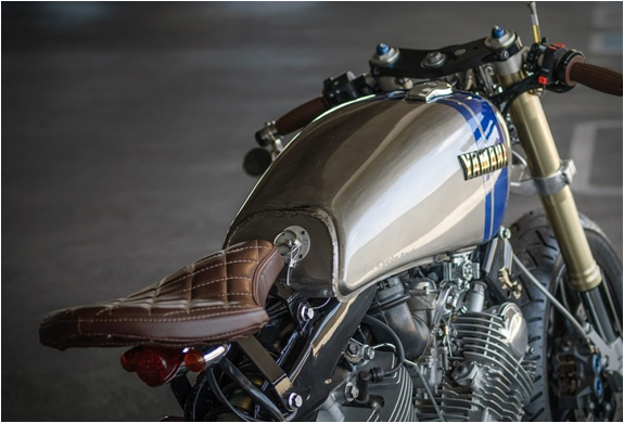 "Yamaha XV750 Virago Custom | 1982 Yamaha XV750 Virago | The Viagro | By Spin cycle Industries  The ""Viagro"" is a spectacular custom Motorcycle recreated from 1982 Yamaha XV750 Virago by Spin City Industries."