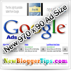 Google Adsense lanches the New 970x90 'Super Leaderboard' Ad Units