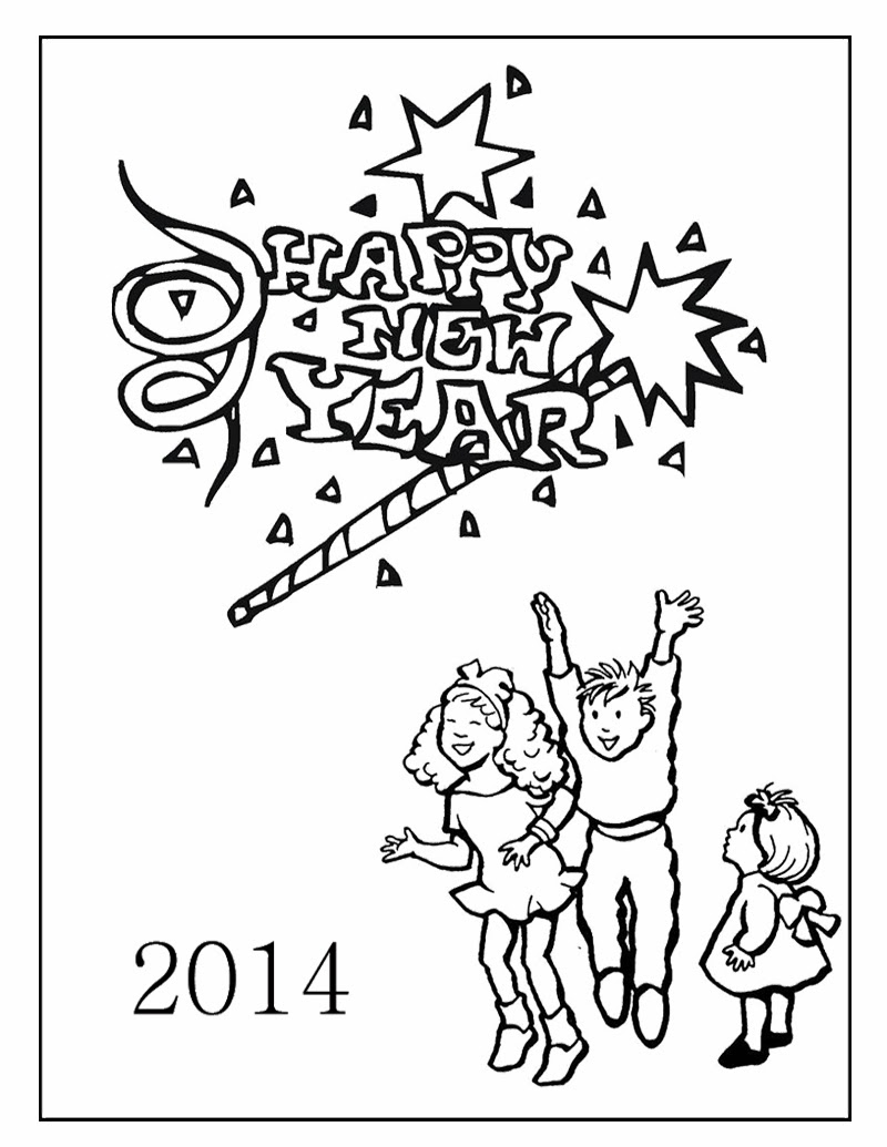 imageslist com happy new year 2014 for coloring