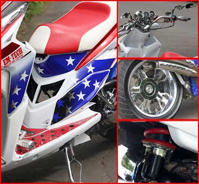 Gambar Modifikasi Honda Vario Techno Captain Amerika Style