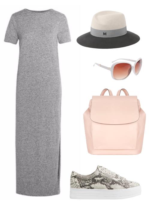 Трикотажное платье с чем носить