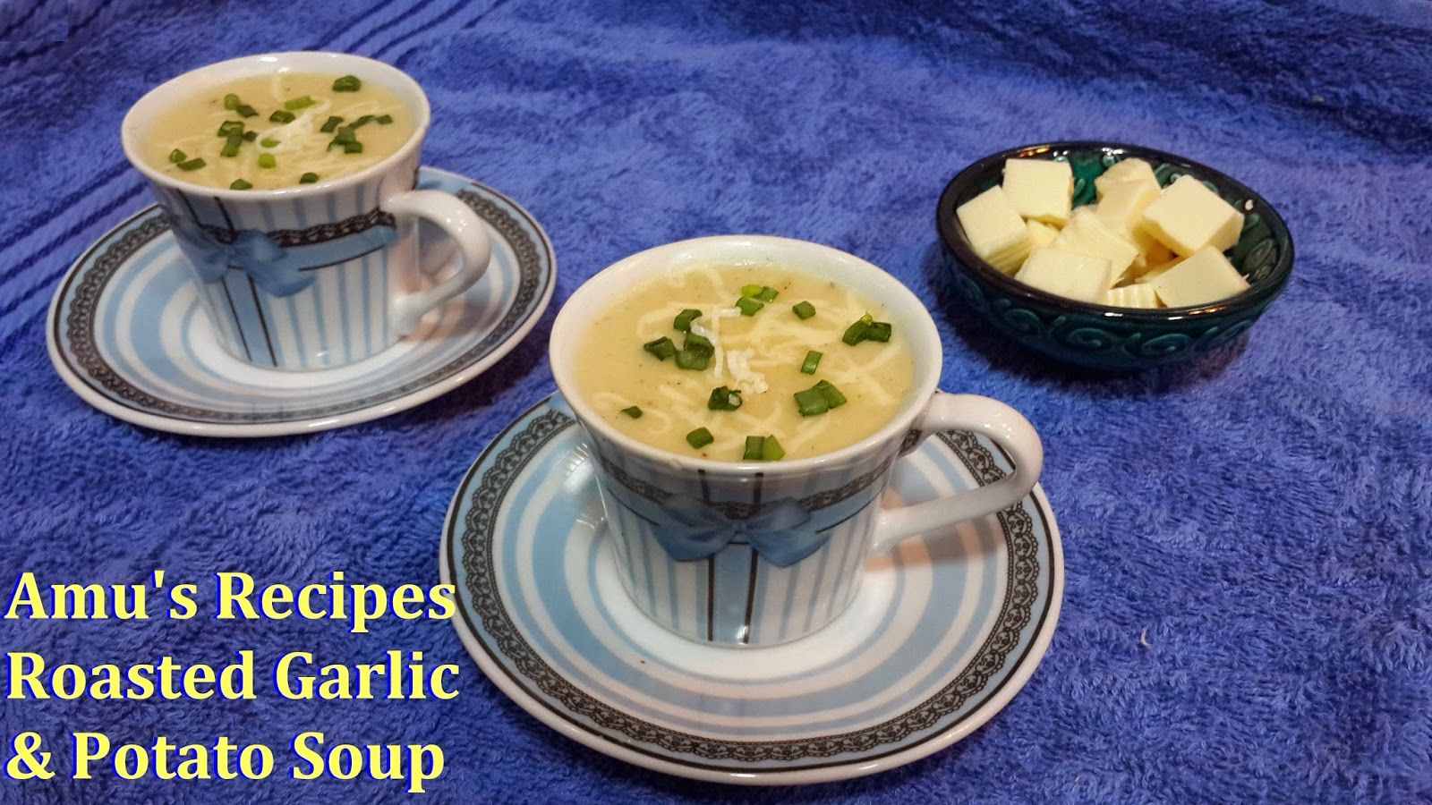 Roasted Garlic and Potato Soup is a perfect Soup for serving guests ...