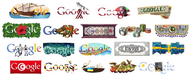 Doodles locales dedicados a determinados países