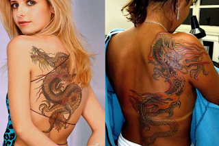Asian Dragon Girls Tattoos