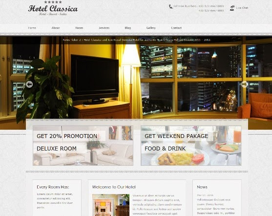 Hotel Classica - Clean Minimalist WordPress Theme
