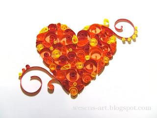 Quilling Heart     wesens-art.blogspot.com