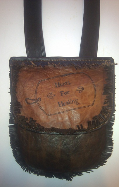 "Pouch for the ""Hunts for Healing"" wounded soldiers outdoor project"
