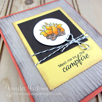 Meet me by the Campfire Card-close up