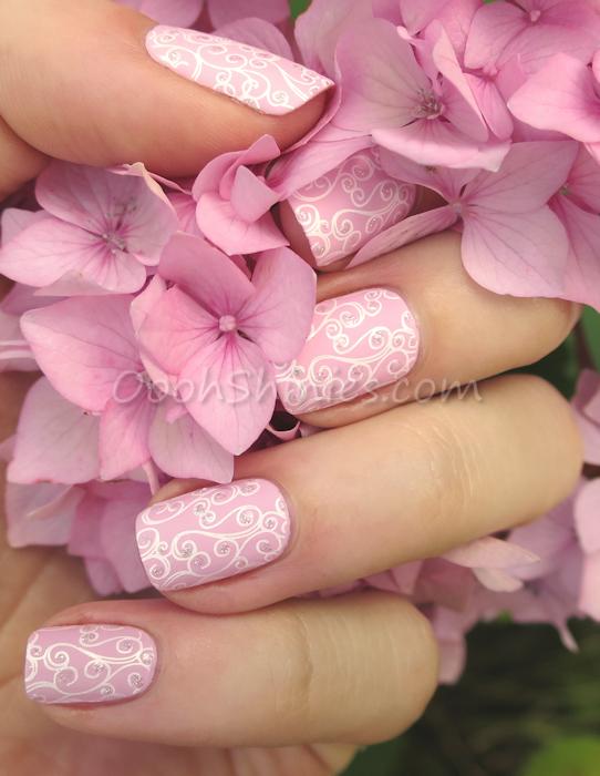 Essence Hola, Guapa with Konad White, Essence Silver Sparkle and UberChic beauty Uc Love & Marriage -01
