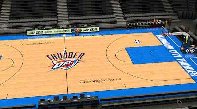 NBA 2K14 OKC Thunder Court Mod