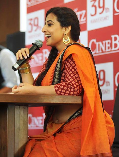 Actress Vidya Balan Saree Below Navel Show Photos