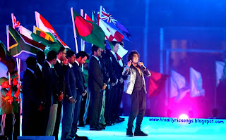 ICC World Cup-2011 ceremony sonu-nigam go for glory