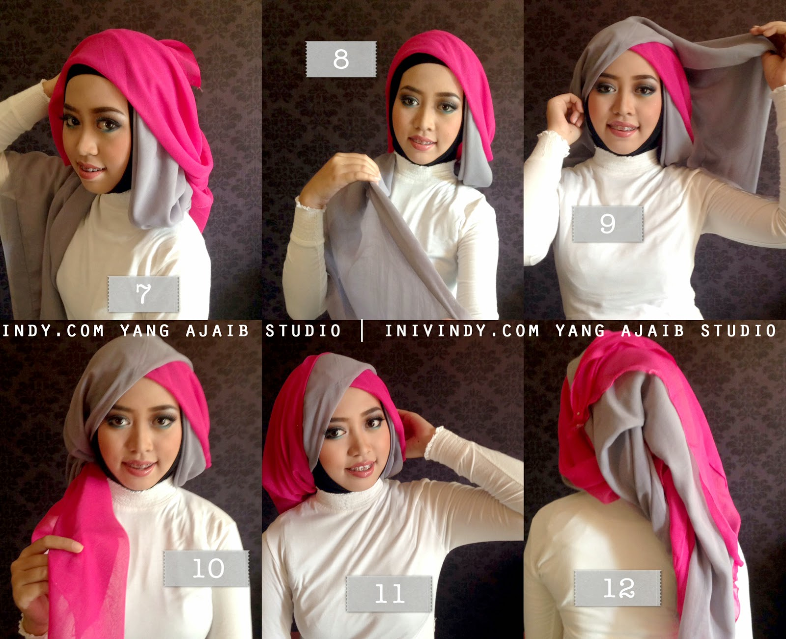 20 Tutorial Hijab Pesta Menutup Dada Tutorial Hijab Terbaru