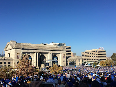 View of Pep Raly in Kansas City for Royals