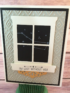 This masculine card uses Stampin' Up!'s Going Global stamp set from the 2016 Occasions Catalog along with the Hearth & Home Thinlits Dies, Metallic Doilies, and the Boho Chic Embossing Folder.  www.stampwithjennifer.blogspot.com