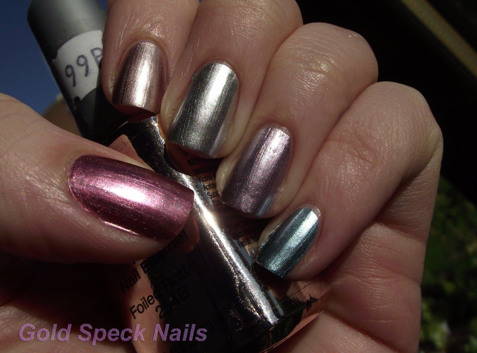 Gold Speck Nails: New Chrome