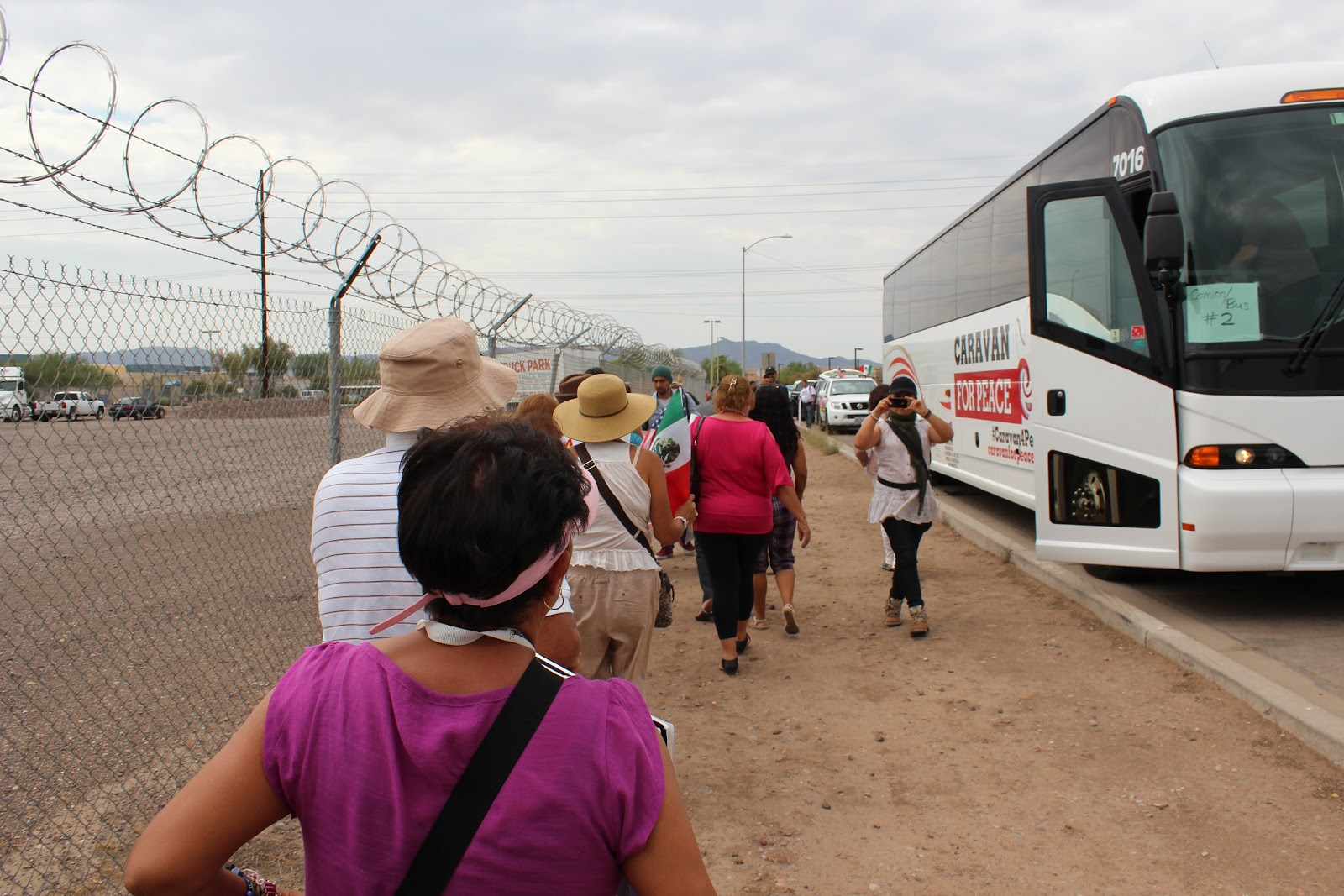live from the caravan for peace mexican drug war victims travel