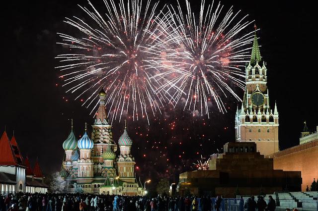 Novy God en la Plaza Roja de Moscú