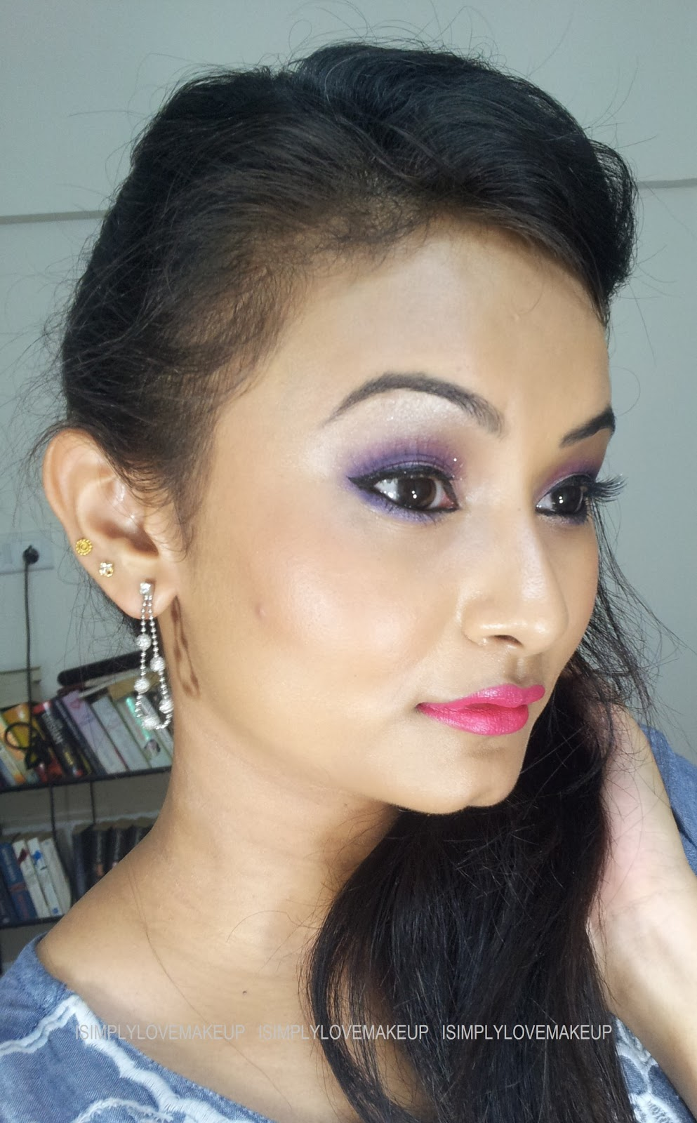Purple Eye Makeup With Coastal Scents 88 Original Palette