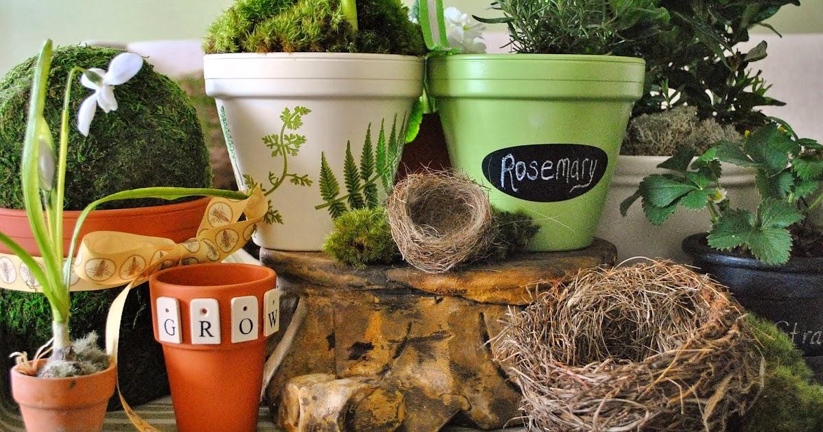 DIY Spring Clay Pots & Michaels Pinterest Party