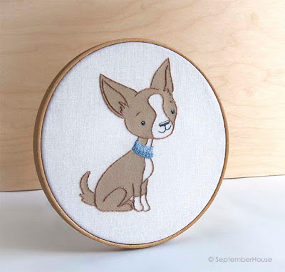 Hand Embroidery Pattern Chihuahua