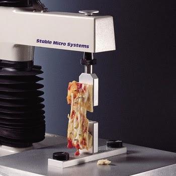 Pizza toughness test using the TA.XTplus Texture Analyser