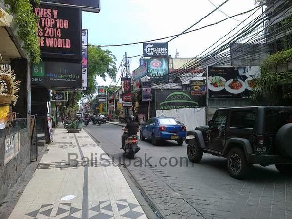 Jalan Legian, Kuta Bali, during the daytime