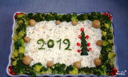 Новогодние салаты 2013 с пошаговым фото