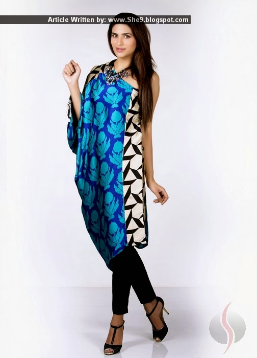 Sana Safinaz Silk Tunics Collection for Winter 2014-2015