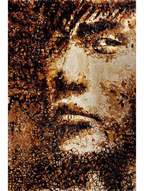 seni lukisan jay chou dari sisa kopi